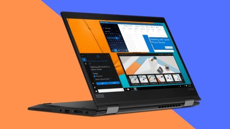 Dos notebooks Lenovo para home office o empleados en movimiento