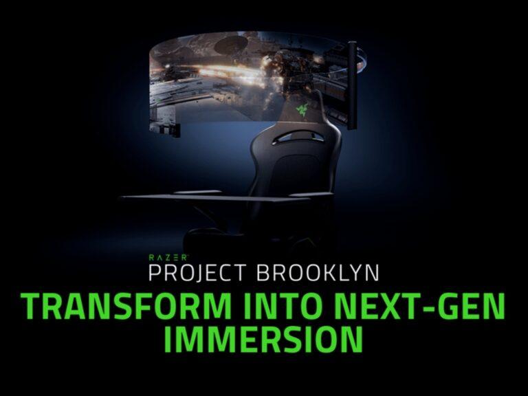 Una silla para gamers que despliega una pantalla de 60″