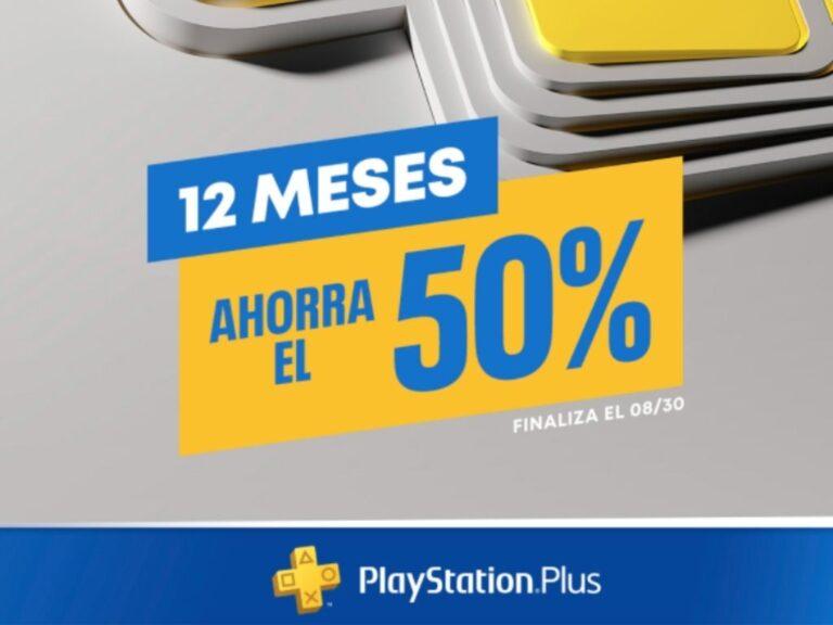 Descuento del 50% para la membresía anual de PlayStation Plus